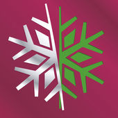 Christmas snowflake — Stock Vector