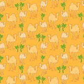 Camel pattern — Stock Vector