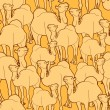 Camel herd pattern — Stockvektor