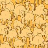 Camel herd pattern — Vector de stock
