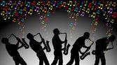 красочная музыка — Cтоковый вектор