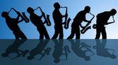 играть блюз — Cтоковый вектор