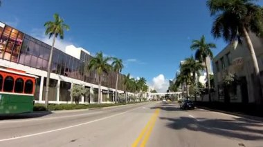 Biscayne Boulevard Miami — Stock Video