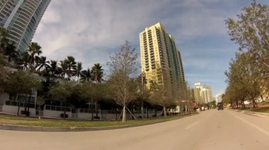 Drivers point of view of Miami — Stock Video