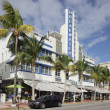 Hotel Breakwater in South Beach - Stock Photo