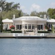 Luxurious waterfront mansion — Stock Photo