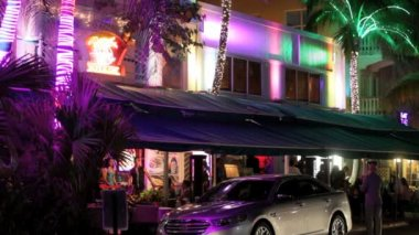 Footage compilation of Ocean Drive South Beach — Stock Video
