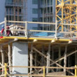 Stock Video: Highrise construction site
