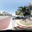 Miami Beach 360 Spherical panorama - Stock Photo
