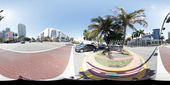Miami Beach 360 Spherical panorama — Stock Photo