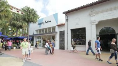 Stock video footage of Lincoln Road Miami Beach — Stock Video