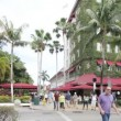 Video footage of Lincoln Road Miami Beach - ストック写真