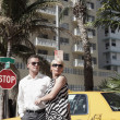 Couple by a taxi cab — Stock Photo #2597484