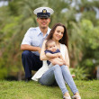 Stock Photo: Military family