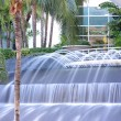 Stock Photo: Long exposure water fountain