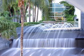 Long exposure water fountain — Stock Photo