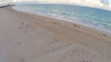 Miami Beach aerial footage — Stock Video