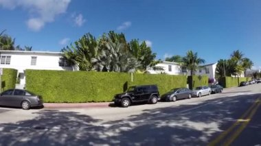Driving through the streets of Miami Beach — Stock Video