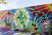 Art wall murals at Wynwood — Stock Photo