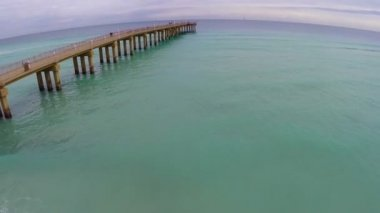 Fishing pier — Stock Video