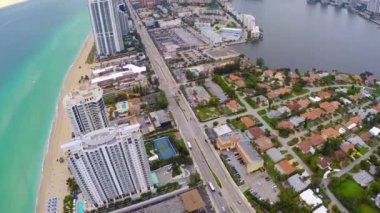 Aerial footage of Sunny Isles Beach Florida — Stock Video