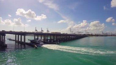 Boating in Miami — Stock Video