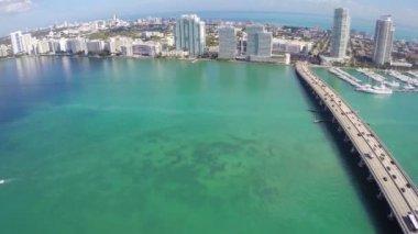 Aerial Miami Beach — Stock Video