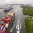 Aerial video of Port Everglades — Stock Video #38018437