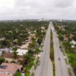 Stock Video: Aerial footage of Hollywood Beach Boulevard