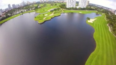 Aerial golf course footage — Video Stock