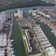 Stock Video: Highrise construction in Sunny Isles Beach Florida