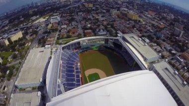 Aerial footage of Marlins Park — Vidéo