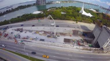 Port of Miami Tunnel aerial video — Stock Video