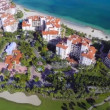 Stock Video: Fisher Island Miami Beach