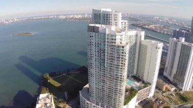 Aerial footage of Miami — Stock Video