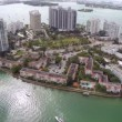 Island with buildings in Miami — Stock Video #39578229