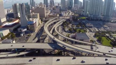 I-95 and downtown Miami — Vídeo Stock
