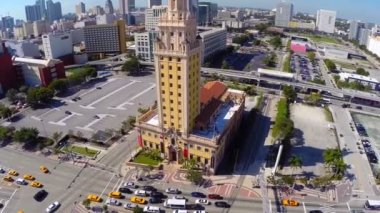 Freedom Tower at Downtown Miami — Stock Video