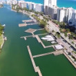 Miami Beach setting up for 2014 Boat Show — Stock Video #39708719