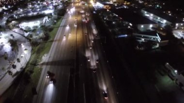 I95 at night — Vídeo Stock