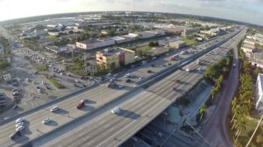 Cars on I-95 during rush hour interstate 95 — Stock Video