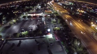 Shopping centers at night — Stock Video