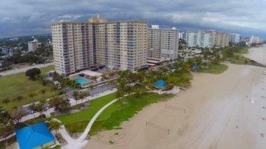 Luchtfoto beeldmateriaal van pompano beach florida — Stockvideo