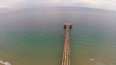 Pompano beach rybářské molo — Stock video