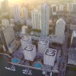 Stock Video: Brickell at dusk