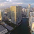 Vídeo de stock: Brickell at dusk
