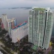 Stock Video: Aerial footage of highrise condominiums