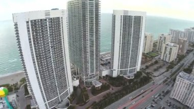 Highrise architecture in Hallandale — Stock Video