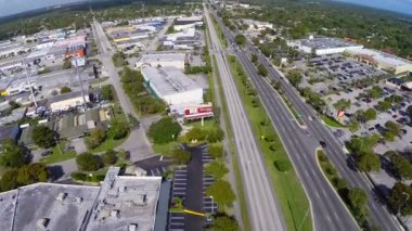Pinecrest Florida aerial video footage — Stock Video
