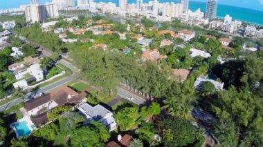 Miami Beach Pinetree Drive aerial video — Stock Video